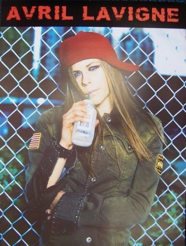 Avril Lavigne - Waterbottle Collectable Poster