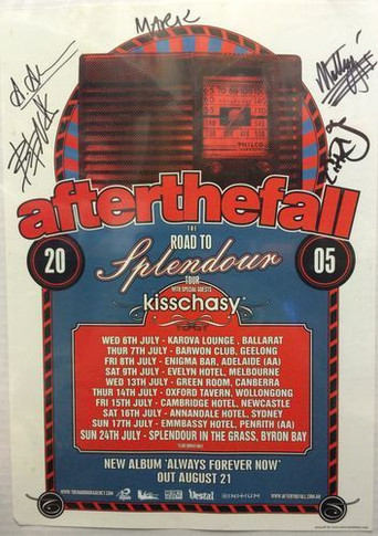 After the Fall - 2005 Splendor 30 X 42cm Collectable Poster Autographed