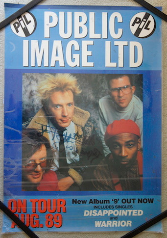 Public Image Ltd 1989 Promo Laminated Collectable Poster Autographed