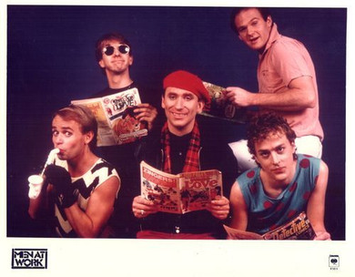 Men at Work - Promotional Columbia Music Colour 26 X 20cm Photo