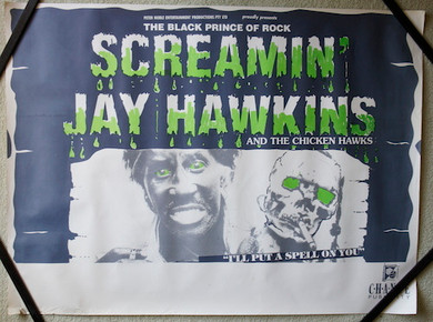 Screamin' Jay Hawkins - 1986? I'll Put A Spell On You Australian Promo Collectable Poster