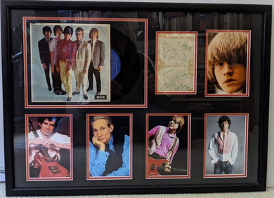 Rolling Stones - Framed Autographs, Photos & 'Five By Five' Mono EP