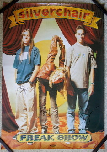 Silverchair - 1997 Freak Show Promo Collectable Poster Autographed
