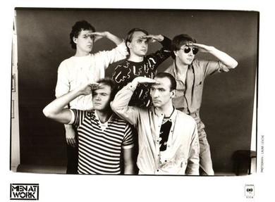 Men at Work - Promotional Columbia Music B&W 26 X 20cm Photo