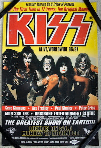 Kiss - 1996/1997 Alive/Worldwide Australian Promo Laminated Collectable Poster