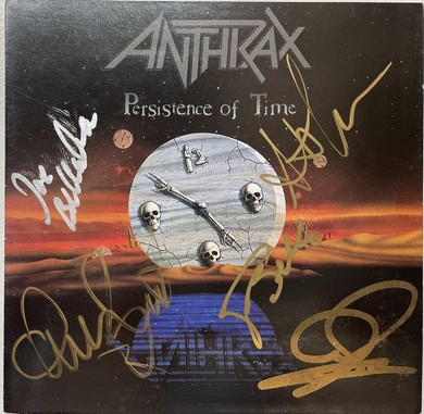 Anthrax - A Persistence Of Time Autographed CD Sleeve No CD