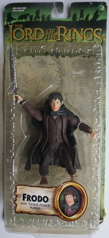Lord of the Rings - Frodo With Sword Attack Action Collectable Figure