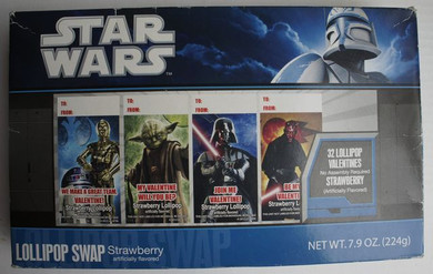 Star Wars - Valentines Lollipops Box Of 32 Collectable Figure