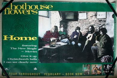 Hothouse Flowers - 1990 Home Promo Collectable Poster