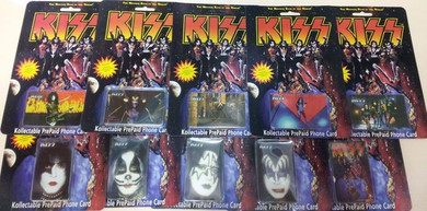 Kiss - 1996 Full Set Of 10 Cards Phone Cards