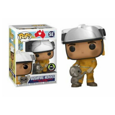 Bushfire Heroes - Firefighter With Koala Bushfire Appeal With Pop Protector Pop! Vinyl Collectable