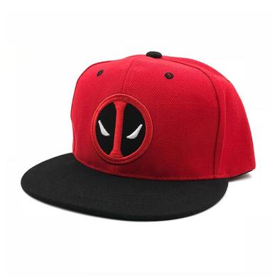 Deadpool - Red W/ Black Brim Logo Cap