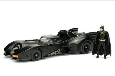 Batman (1989) - Batmobile W/ Batman Die Cast Car 1:24