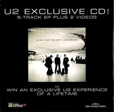 U2 - Exclusive CD! Promo CD Single