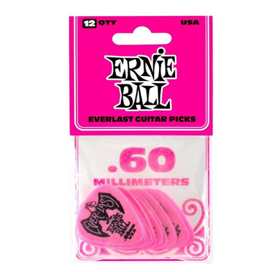 Ernie Ball - .60 Mm Pink Pack Of 12 Guitar Pick