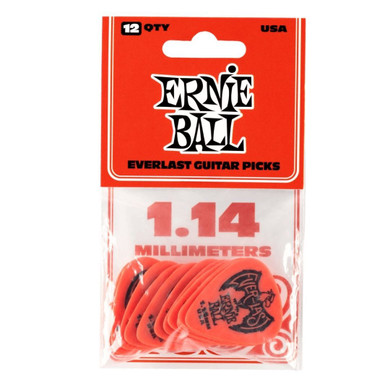Ernie Ball - 1.14 Mm Red Pack Of 12 Guitar Pick