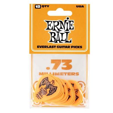 Ernie Ball - .73 Mm Orange Pack Of 12 Guitar Pick