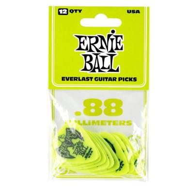 Ernie Ball - .88 Mm Green Pack Of 12 Guitar Pick