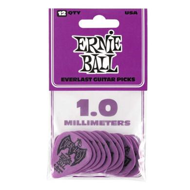 Ernie Ball - 1.0 Mm Purple Pack Of 12 Guitar Pick
