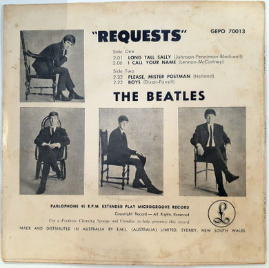 "Beatles - Requests 4 Track Australian 7"" Vinyl EP (Used)"