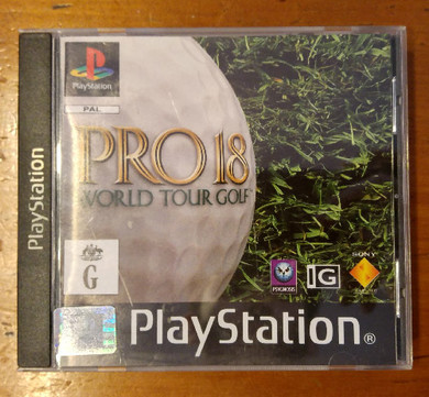 Playstation 1 - Pro 18 World Tour Golf Video Game