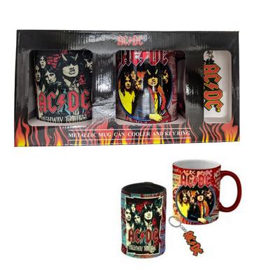 AC/DC - Can Cooler, Keyring & Mug Pack