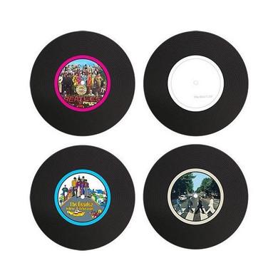 Beatles - Set Of 4 Silicon LP Coasters