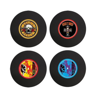 Guns N' Roses - Set Of 4 Silicon LP Coasters