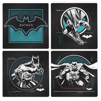 Batman - Box Of 4 Glass Drink Coasters