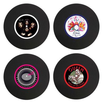 Queen - Set Of 4 Silicon LP Coasters