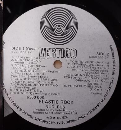Nucleus - Elastic Rock Vinyl (Used)