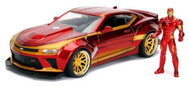Iron Man - 1:24 2016 Chevy Camero Ss Hollywood Ride Die Cast Car