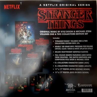 Soundtrack - Stranger Things Vols. 1 & 2 2LP Clear & Splatter Coloured  Box Set Vinyl (Used)