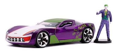 Batman - 1:24 Joker 2009 Corvette Hollywood Ride Die Cast Car