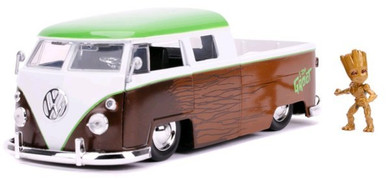 Guardians of the Galaxy - 1:24 1962 Volkswagon Bus with Groot Hollywood Ride Die Cast Car