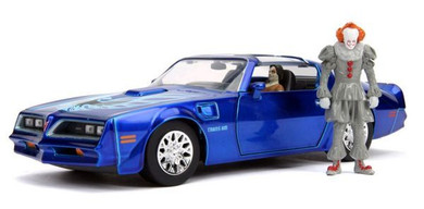It (2017) - 1:24 1977 Pontiac Firebird with Pennywise Figure Hollywood Ride Die Cast Car