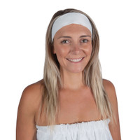 White Headband w/ Velcro