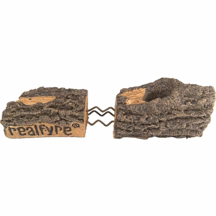 Basic On//Off Remote Peterson Real Fyre 24-inch Golden Oak Designer See-thru Log Set With Vent-free Natural Gas Ansi Certified G9 Burner