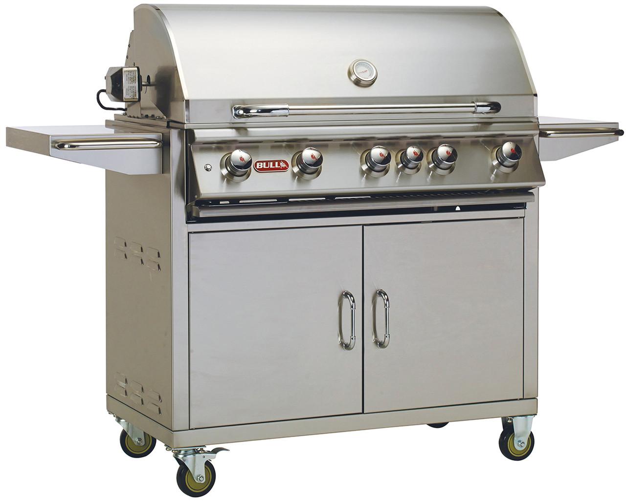 Bull BBQ Brahma 5-Burner 38'' Stainless Steel Grill Cart