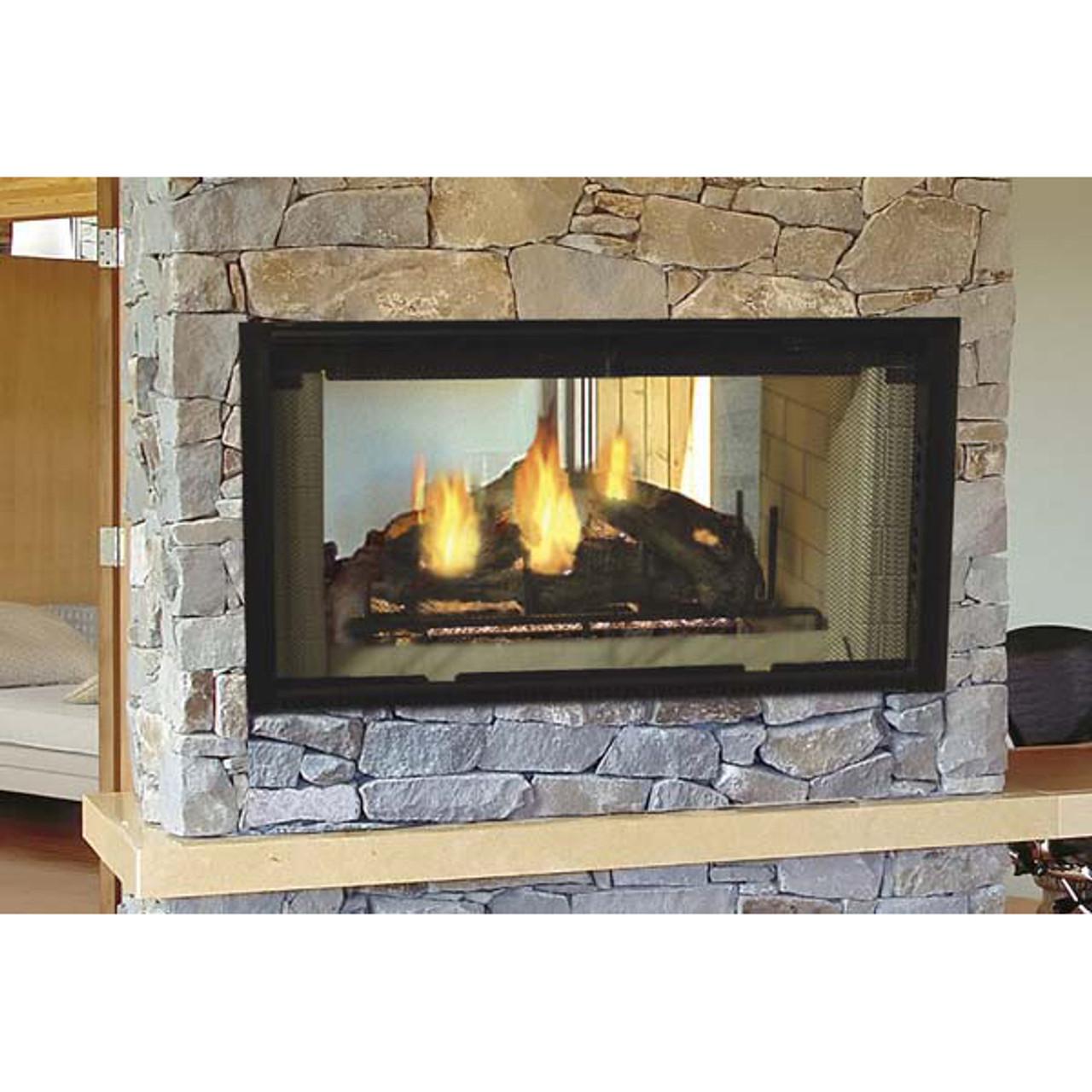 Majestic Designer Series See Thru Radiant Wood Burning Fireplace