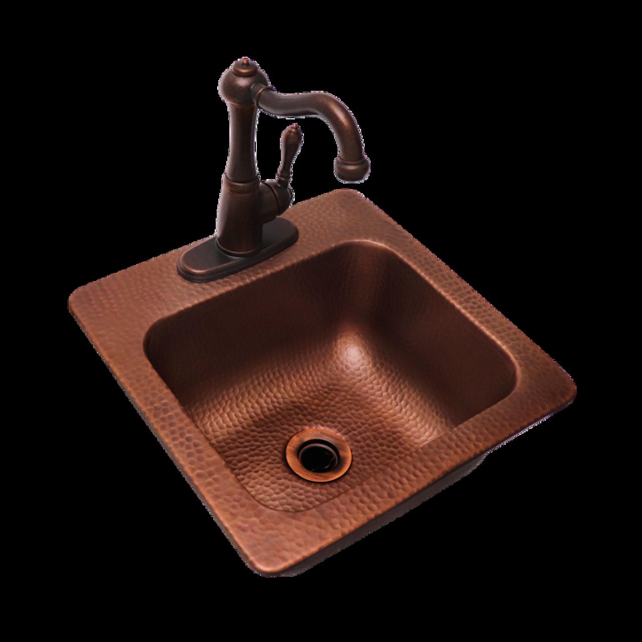 Superbe RCS Copper Bar Sink U0026 Faucet 15 X 15  16 Gauge Copper Sink Hot ...