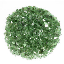 "American Fireglass 1/4"" Evergreen Reflective Fireglass 10lbs"