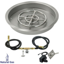 "American Fireglass 19"" Round drop-in Pan Spark Ignition- NG"
