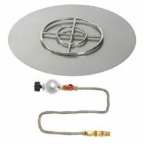 "American Fireglass 36"" Round Flat Pan with Match Lite Kit - Propane"