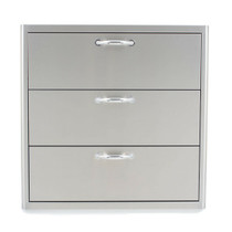 Blaze 30 Inch Triple Access Drawer (BLZ-30W-3DRW)
