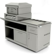 """Alfresco 30"""" Deluxe Pizza Oven Prep Cart (AXE-PZA-PPC)"""