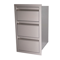 RCS Valiant Stainless Triple Drawer-Fully Enclosed