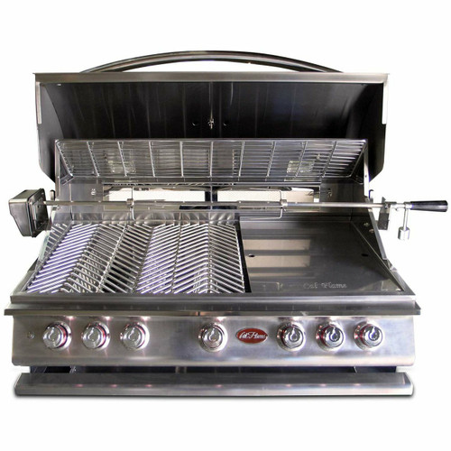 Cal Flame P5 grill hood open