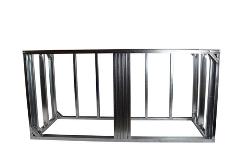 "DIY BBQ 6ft Straight Modular Frame Section 36"" Standard Height"
