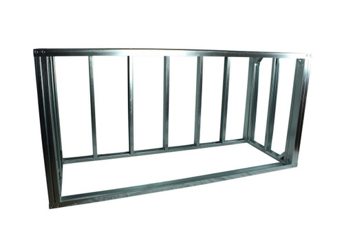 "DIY BBQ Quick Panel™ 6ft Straight Modular Frame Section 36"" Standard Height"